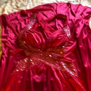 Masquerade Dresses - Deep cranberry colored gown